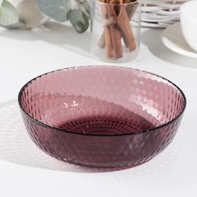 Тарелка суповая «Идиллия», d=18 см, цвет бордовый