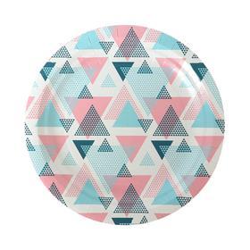 Тарелка бумажная «Геометрия», 18 см, 6 шт.