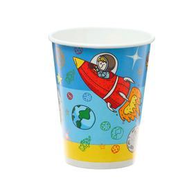 Стакан бумажный «Космонавты», 6 шт., 250 мл
