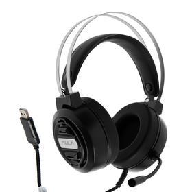 Наушники AULA S603 USB, игровые, полноразмерные, микрофон, USB, 2.1м, подсветка ,черные