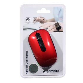 Мышь Gembird MUSW-355-R, беспроводная, оптическая, 1600dpi, 1xAA (не в компл), красно-черная