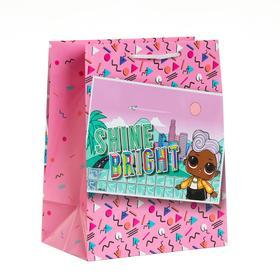 Пакет подарочный LOL, с картинкой, 180х227х100 мм, цвет розовый