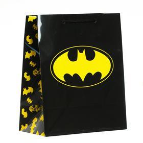 Пакет подарочный Batman, 180х223х100 мм, цвет чёрный