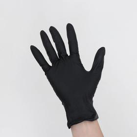 Перчатки Manual, нитриловые, смотровые, нестерильные, неопудренные, текстурированные, размер S, 100 шт/уп, цена за 1 шт, цвет чёрный