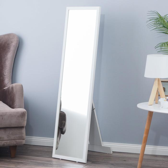 """Зеркало """"Оливер"""", напольное, 33х120 см, в белой раме"""