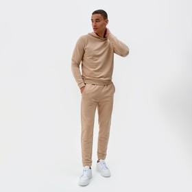 Костюм мужской (худи,брюки) MINAKU цвет бежевый, р-р 52 Ош