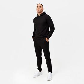 Костюм мужской (худи,брюки) MINAKU цвет чёрный, р-р 54 Ош