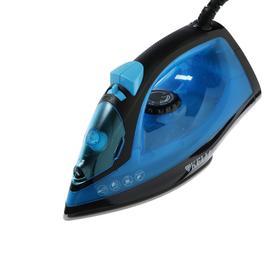 Утюг KELLI KL-1642, 2200 Вт, керамическая подошва, 200 мл, паровой удар, сине-чёрный