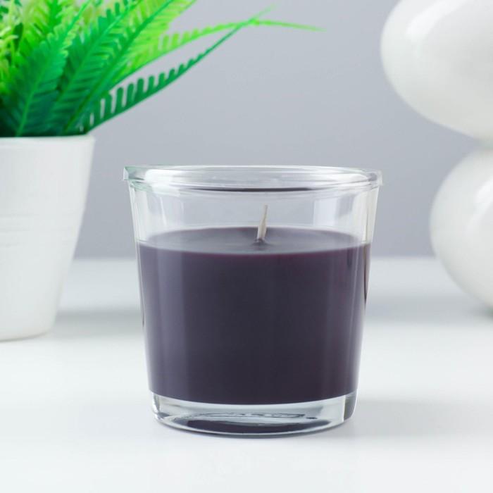 Ароматическая свеча в стакане СИНЛИГ, чёрный перец, 7,5 см, 25 ч, коричневый