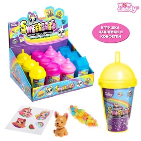 Набор с конфетами Sweeteees, конфеты в красивой баночке, игрушка, МИКС