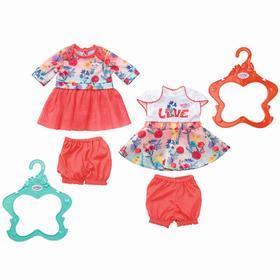 Цветочное платье с шортиками для куклы, МИКС