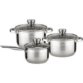 Набор посуды: ковш 2.1 л/16 см, кастрюли 2.9/3.9 л