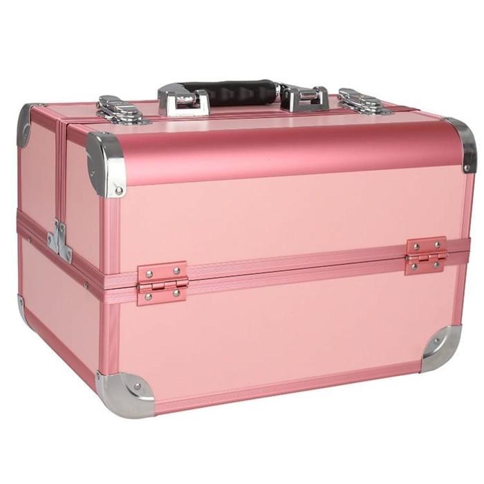 Бьюти-кейс для косметики CWB8340, цвет чёрно-розовый