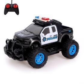 Джип радиоуправляемый «Полиция», работает от батареек, МИКС