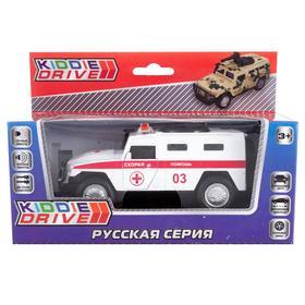 Игрушка «Машинка с пушками», белый, инерционный, свет, звук