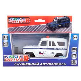 Автомобиль игрушечный, белый, инерционный, свет, звук