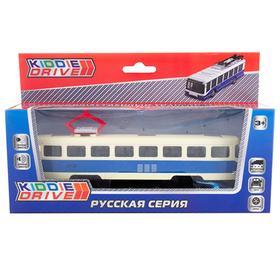 Общественный транспорт, синий, инерционный, свет, звук