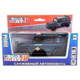 Модель автомобиля «Внедорожник», черный, инерционный, свет, звук