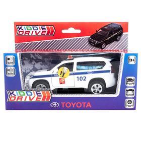 Модель автомобиля Toyota Prado ДПС, белый, инерционный, свет, звук
