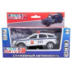 Модель автомобиля Toyota Rav4, серебряный, инерционный, свет, звук