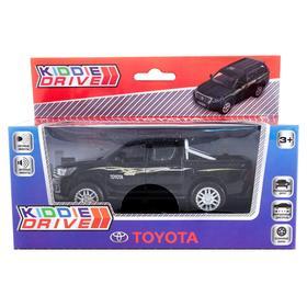 Модель автомобиля Toyota Hilux, черный, инерционный, свет, звук