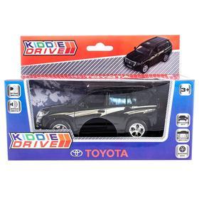 Модель автомобиля Toyota Prado, черный, инерционный, свет, звук