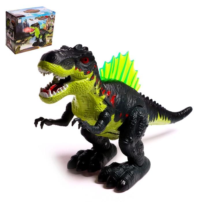 Динозавр «Рекс», эффект дыма, свет и звук, работает от батареек