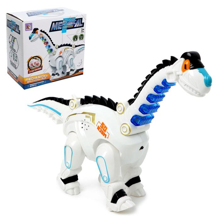 Динозавр «Техно», работает от батареек, откладывает яйца