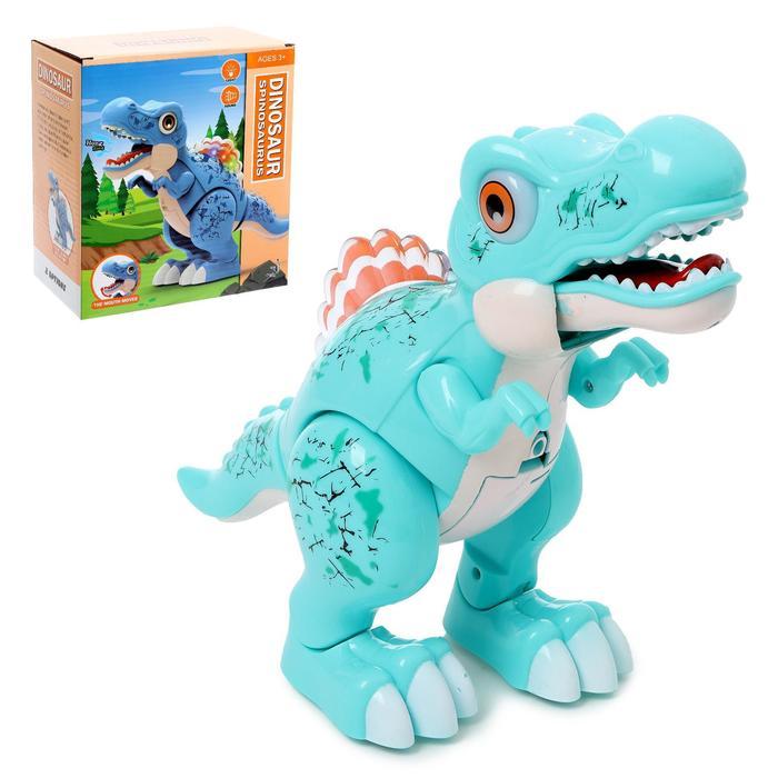Динозавр «Вилли», свет и звук, работает от батареек, цвет зеленый