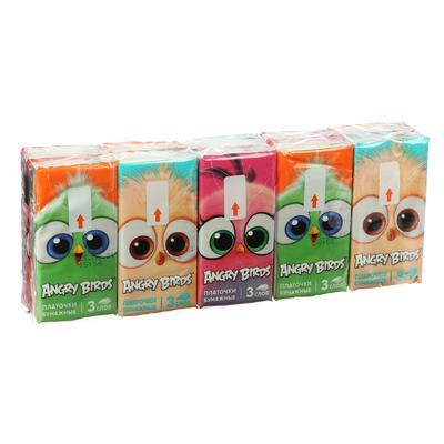 Платочки бумажные Angry Birds 3сл - Фото 1