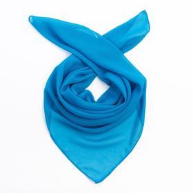 Платок женский 84 S_24 цвет синий, р-р 70*70