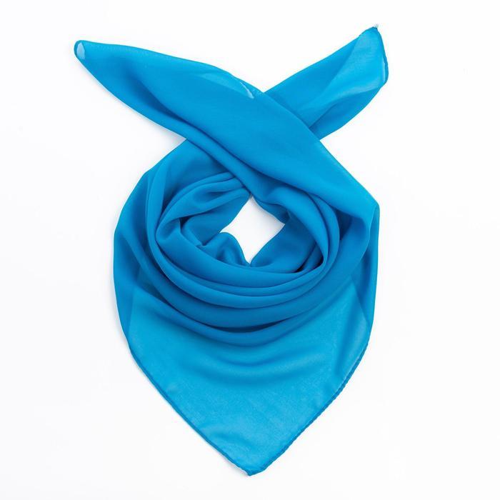 Платок женский 84 S_24 цвет синий, р-р 7070