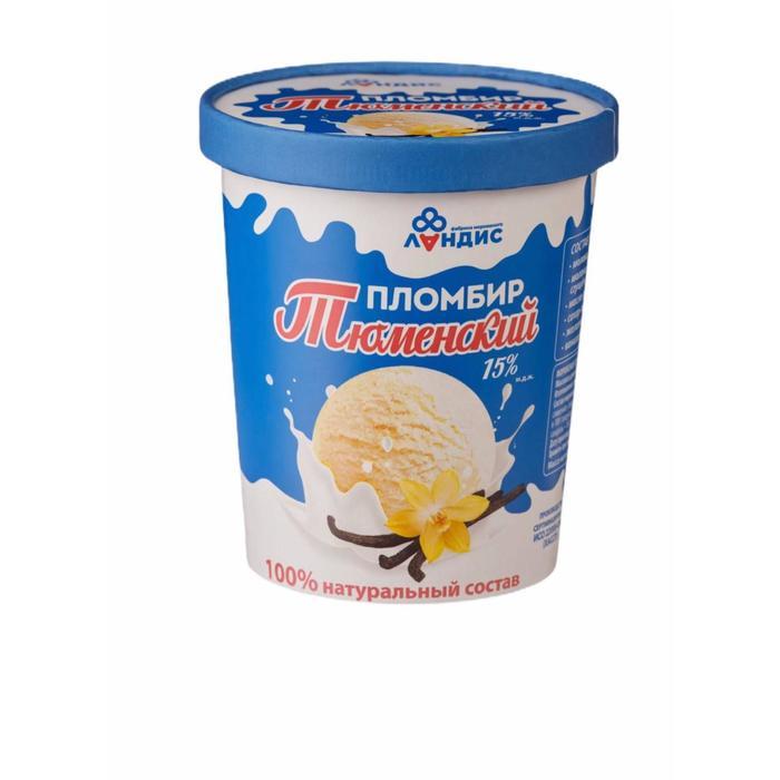 Мороженое «Тюменский пломбир» в ведре 15 % ванильное, 400 г