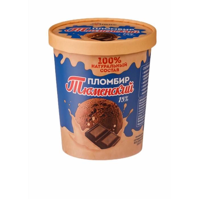 Мороженое «Тюменский пломбир» в ведре 15 % шоколадное, 400 г