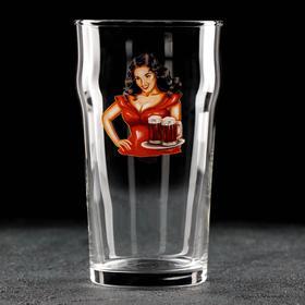 Бокал для пива «Девушка в красном», 570 мл