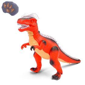 Динозавр радиоуправляемый «T-Rex», световые и звуковые эффекты, работает от батареек, цвет красный