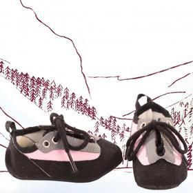 Ботинки текстильные, для куклы 42-50 см