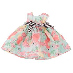 Платье «Фламинго», для куклы 45-50 см