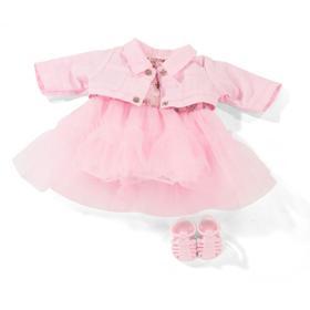 Набор одежды сандали, платье, жакет, для куклы 30-33 см