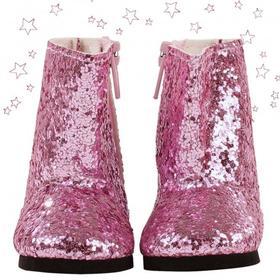 Туфли с блёстками на шнурках, для куклы 42-50 см
