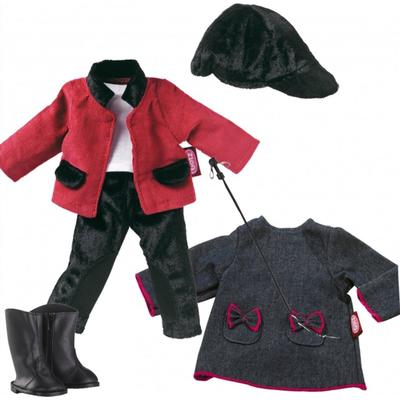 Жокейский костюм, платье, для куклы 27 см - Фото 1