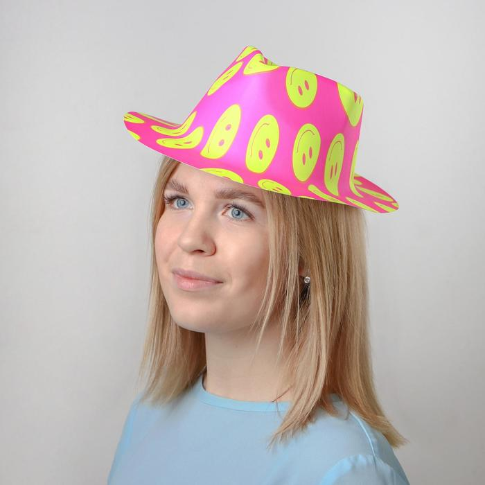 Карнавальная шляпа Смайл, с выемкой, 30х25х10 см