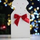 """Ящик подарочный """"Ёлка"""" (12*12*42) Дерево, МДФ 6 мм, окрашен., оформл., Белый-красный - Фото 5"""