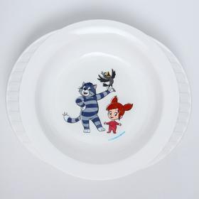 Миска детская для кормления на присоске «Простоквашино», цвет белый