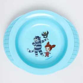 Миска детская для кормления на присоске «Простоквашино», цвет голубой