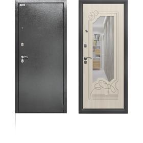 Сейф-дверь «Берлога Ольга», 970 × 2050 мм, левая, цвет антик серебро / филадельфия крем
