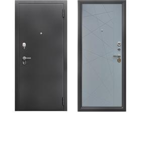 Сейф-дверь «Берлога Тринити», 870 × 2060 мм, левая, цвет антик серебро / хьюстон силк маус