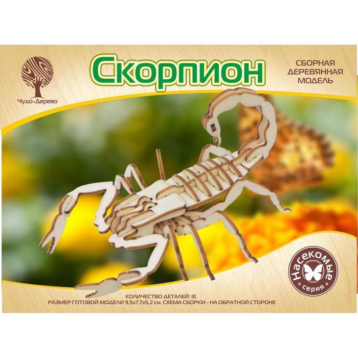 Модель деревянная сборная Скорпион