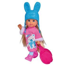 Кукла Еви 12 см, в зимнем платье с аксессуарами