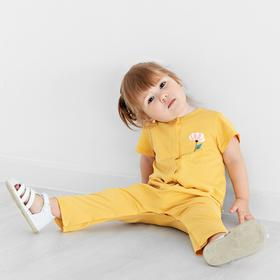 Комбинезон для девочки «Солнышко», рост 68 см, цвет жёлтый